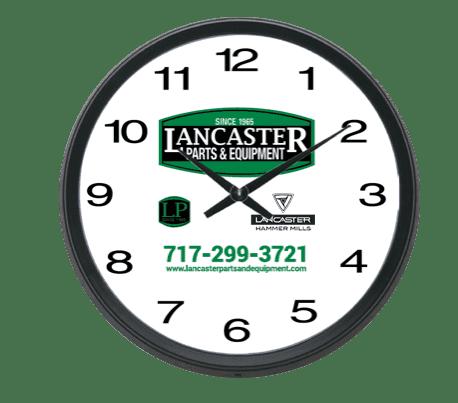 "LPE 16"" Family Black Wall Clock"